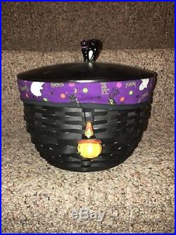 Longaberger Cauldron Halloween Basket Set