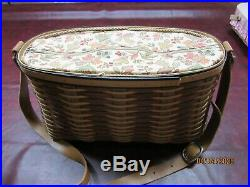 Longaberger Chestnut Carry All Basket Set