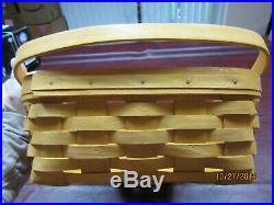 Longaberger Classic Medium Gathering Basket Set with Lid