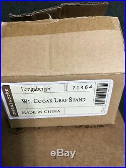 Longaberger Collectors Club Acorn Basket Set With Oak Leaf Stand New