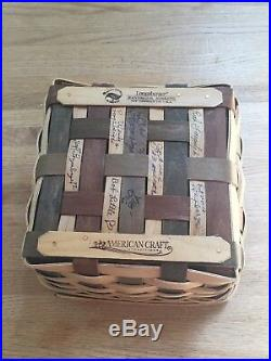 Longaberger Collectors Club American Craft Traditions Large Berry Basket Set