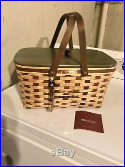 Longaberger Collectors Club American Craft Traditions Medium Market Basket Set