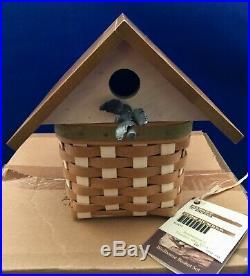 Longaberger Collectors Club Birdhouse Basket Set PLUS 6 BACKYARD BIRDSIN Boxes
