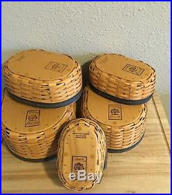 Longaberger Collectors Club Harmony Basket Set of 5 With Lids