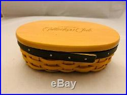 Longaberger Collectors Club Harmony Stacking Baskets Lids Protectors Set of 5