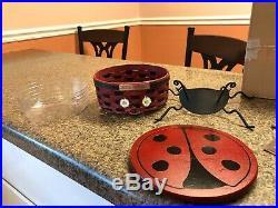Longaberger Collectors Club Lady Bug Baskets (set of 2)
