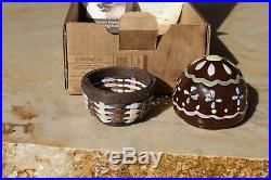 Longaberger Collectors Club Miniature Sweets Chocolate Egg Basket Set