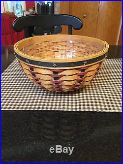 Longaberger Collectors Club Proudly American 9 Bowl Basket Set New