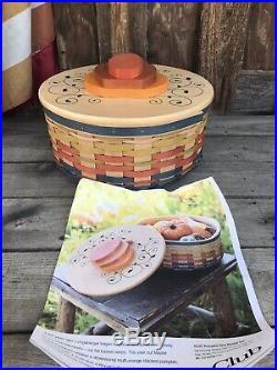 Longaberger Collectors Club Pumpkin Vine Basket Set Rare