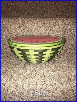 Longaberger Collectors Club Watermelon Basket Set