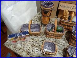 Longaberger Complete Jw Miniature Basket Sets With Many Extra Accessories