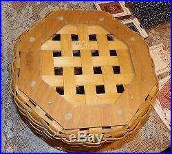 Longaberger Dealers Choice Game Basket complete set Bunco Poker 2005