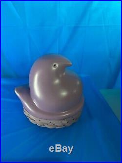 Longaberger Easter 2012 Lavender Peeps Basket/pottery Set