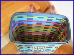 Longaberger Field Trip Basket Set Summer Weave bright 2017 shipping included