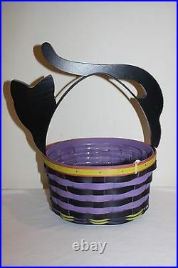 Longaberger Halloween Cat Basket Set New
