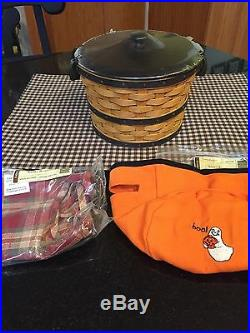 Longaberger Halloween Small Bushel Basket Set New
