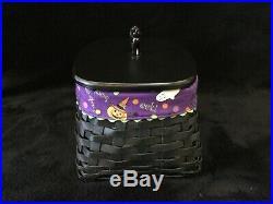 Longaberger Halloween Wrought Iron BLACK CAT Basket Set With Lid