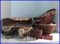 Longaberger Harvest Baskets Lidded Protectors Autumn Liners RARE set Bonuses