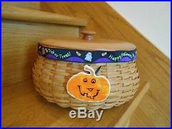 Longaberger Hostess Halloween Basket Set Pumpkin 2 liners! Shipping included