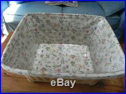 Longaberger Housekeeping Basket Set Warm Brown Huge Beautiful