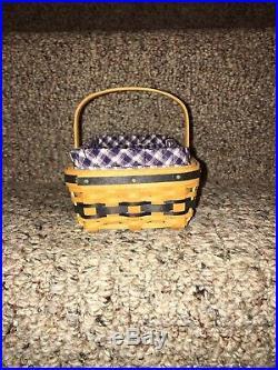Longaberger JW Miniature Gather Basket Combo Set Brand New