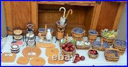 Longaberger JW mini set of 12 Collector Club Extras MUST SEEJ. W. Whole set