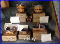 Longaberger J. W. Miniature Baskets, Set Of 5, NEW