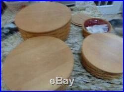 Longaberger Keeping Basket Set Of 4 Baskets With Lids 13 11 9 7