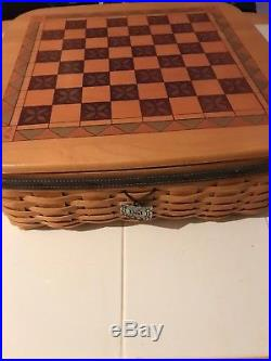 Longaberger Large 15x15 Father's Day 2001 Checkerboard Basket SET & CHECKERS
