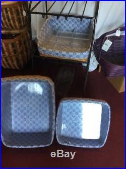 Longaberger Large Bin Organizer W Basket Set