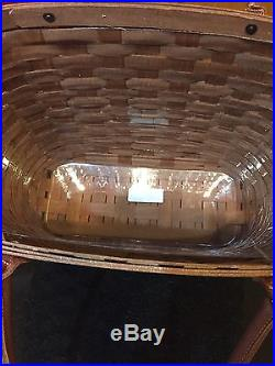 Longaberger Large Boardwalk Basket Set Rich Brown New