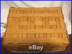 Longaberger Large Storage Solutions Basket Set- Botanical Fields Liner Protector