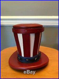 Longaberger Large Uncle Sam Hat Basket Set Rare