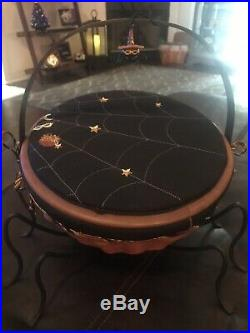 Longaberger Lg Autumn Treats Halloween Basket, Legs, Spider Tie On, Prot, Lid Set