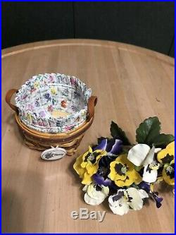 Longaberger May Series Miniature Pansy Basket Set
