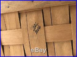 Longaberger Medium Storage Solutions Basket / Wood Lid / Protector SET RARE