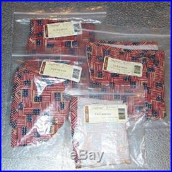 Longaberger Old Glory CANISTER BASKET SET 4-Basket Liners Brand New in Bags