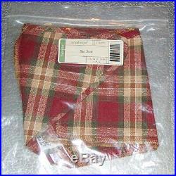 Longaberger Orchard Park Plaid BASKET BIN SET 3-Bin Liners Brand New in Bags