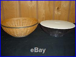 Longaberger Oval Bowl Basket Set