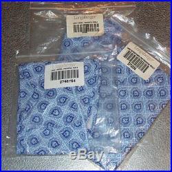 Longaberger Provincial Paisley BASKET BIN SET 3-Bin Liners Brand New in Bags