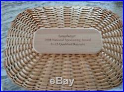 Longaberger RARE 2008 National Sponsor Basket Set MINT condition FREE SHIPPING