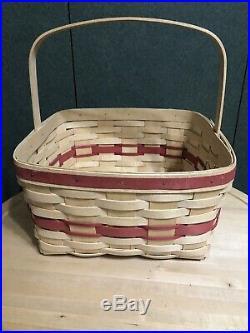 Longaberger Rare Cake Basket Set Woven And Signed By Jerry Longaberger
