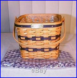 Longaberger Rare Retired Jw Cclub Mini Two Pie Basket Set-new-last One