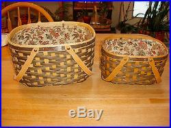 Longaberger Rare Set 2 Nat'l Sales Achiever & Nat'l Sponsoring Vip Baskets 2008