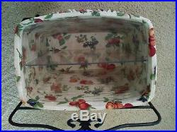 Longaberger Retired NEWSPAPER Basket Set with Wrought Iron Stand and more