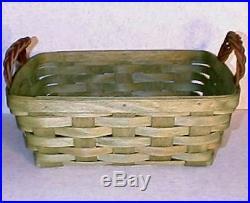 Longaberger Sage Leaf Green Small Serving Basket & Protector Set-new-shop Store