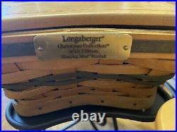 Longaberger Shining Star Basket Set Trio/Wrought Iron Stands/Protectors/Lids