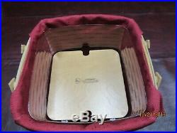 Longaberger Spice Market Picnic Tote Set with NEW Lid