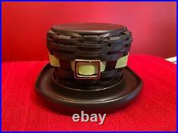 Longaberger St. Patricks Leprechaun Hat Basket Set NWT