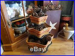 Longaberger Star set baskets with wrought iron stand holder's and protector